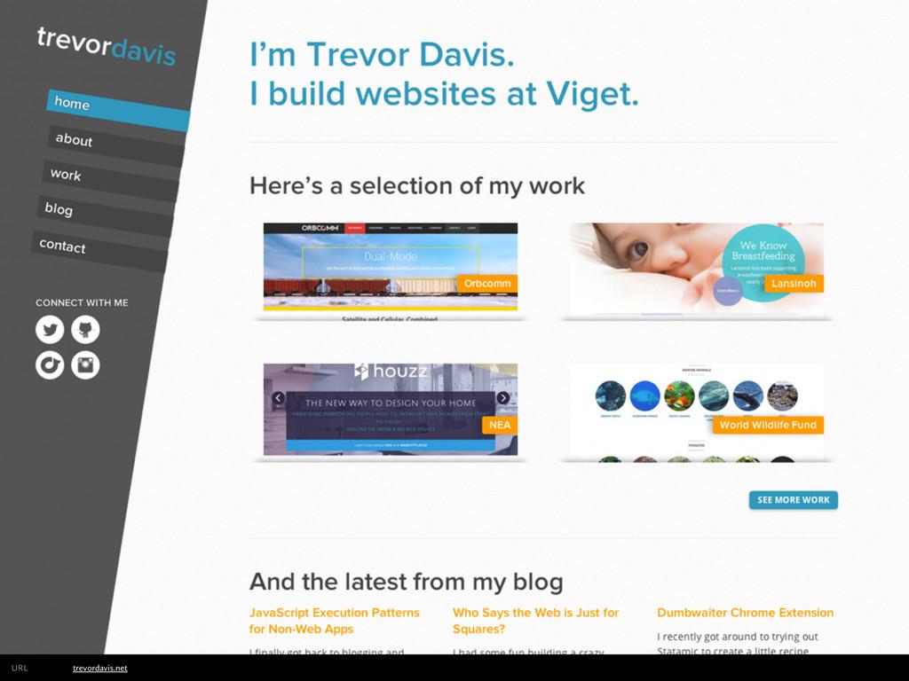 trevordavis.net URL