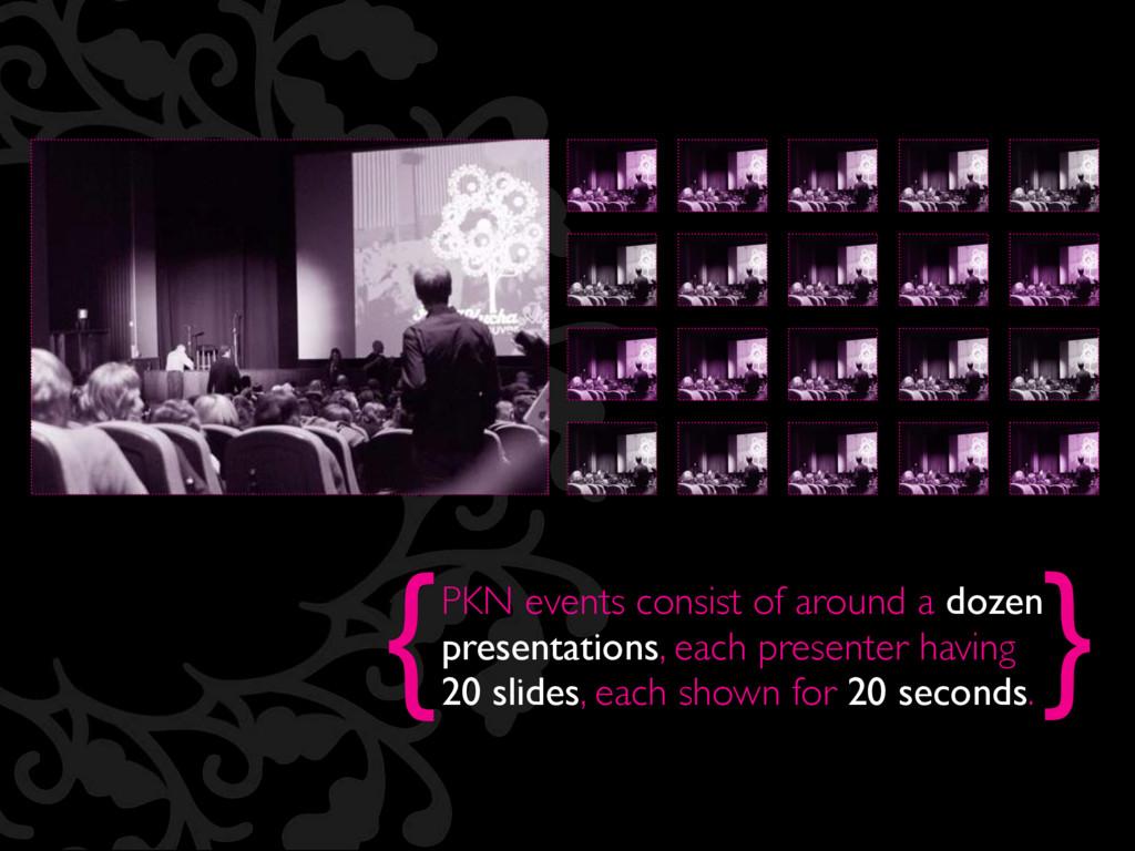 { } PKN events consist of around a dozen presen...