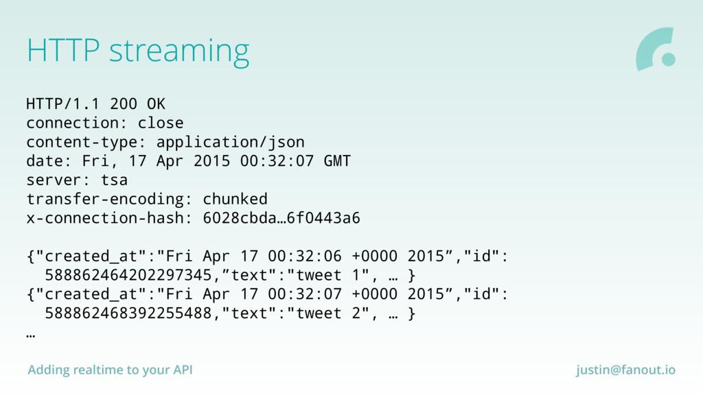 Adding realtime to your API justin@fanout.io HT...
