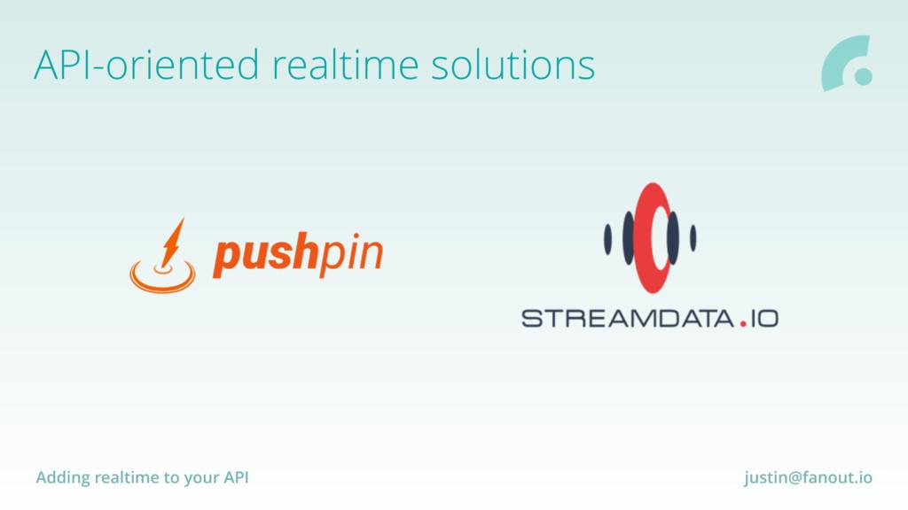 Adding realtime to your API justin@fanout.io AP...