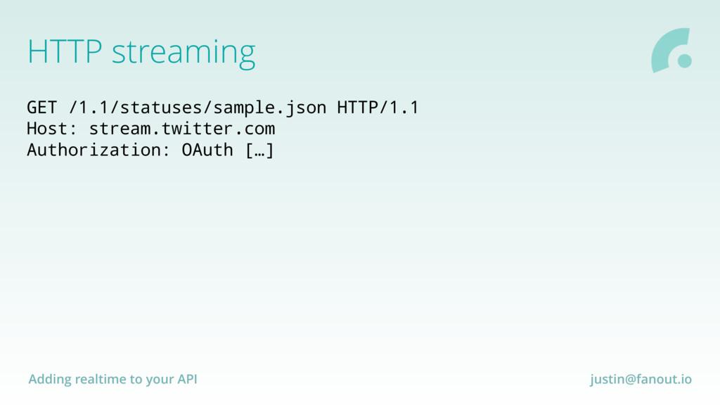Adding realtime to your API justin@fanout.io GE...