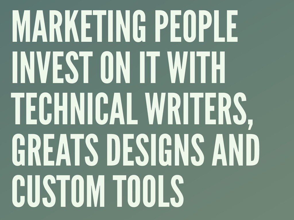MARKETING PEOPLE INVEST ON IT WITH TECHNICAL WR...
