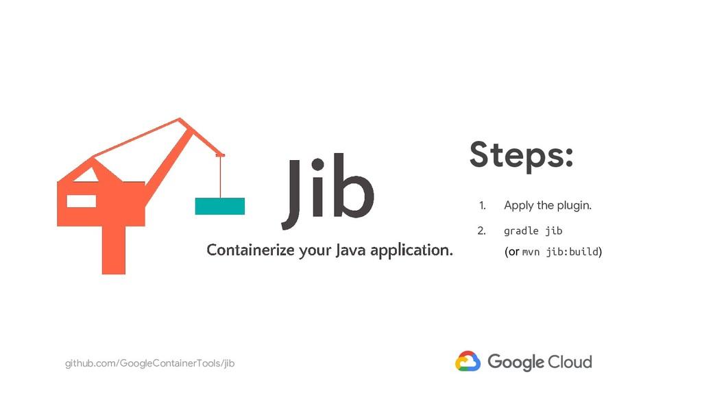 github.com/GoogleContainerTools/jib 1. Apply th...