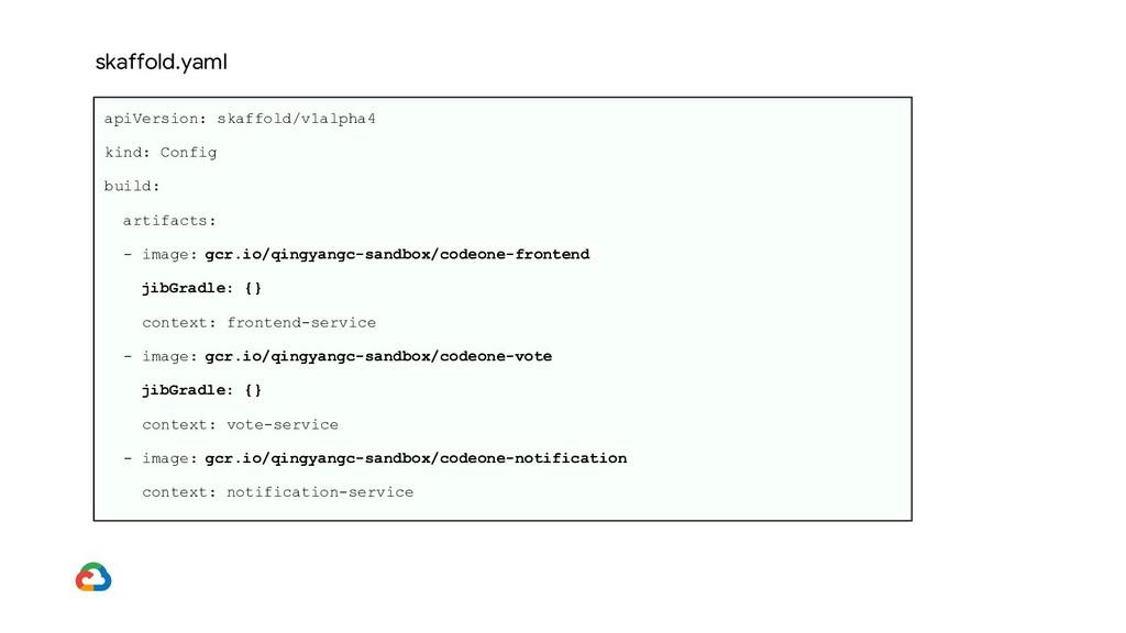 apiVersion: skaffold/v1alpha4 kind: Config buil...