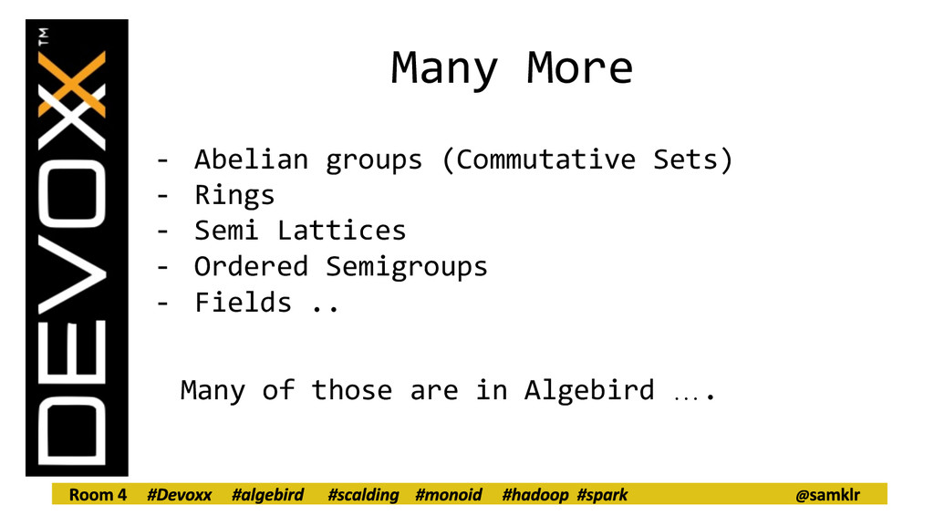 Many More - Abelian groups (Commutative Sets) -...