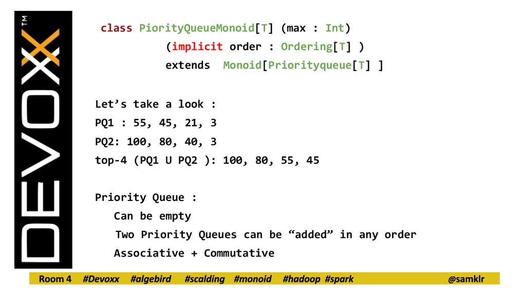class PiorityQueueMonoid[T] (max : Int) (implic...