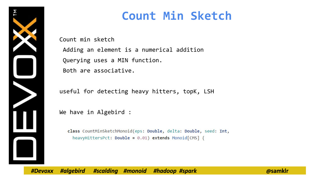 Count Min Sketch Count min sketch Adding an ele...