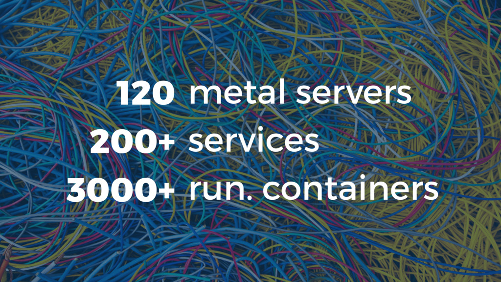 metal servers services run. containers 120 200+...
