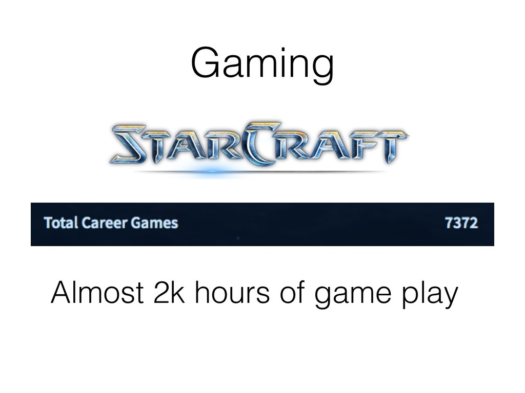 Gaming Almost 2k hours of game play