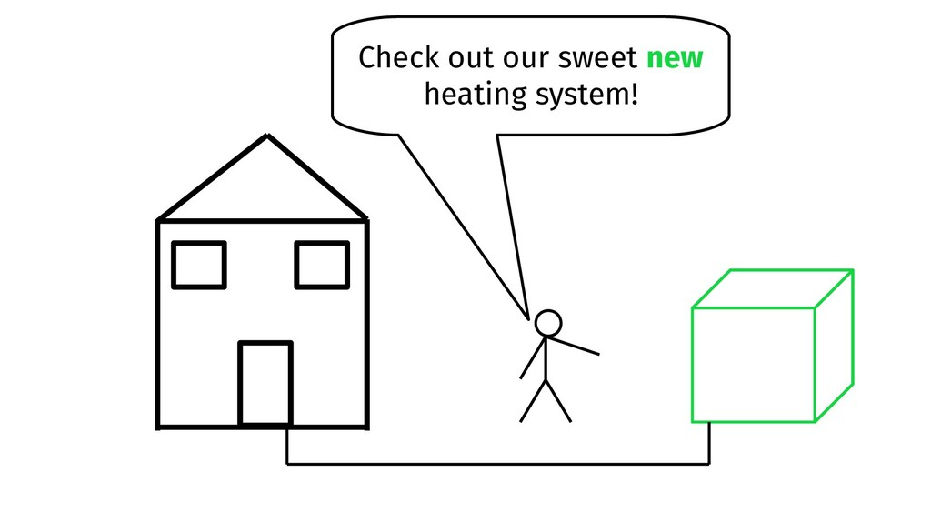 Check out our sweet new heating system!