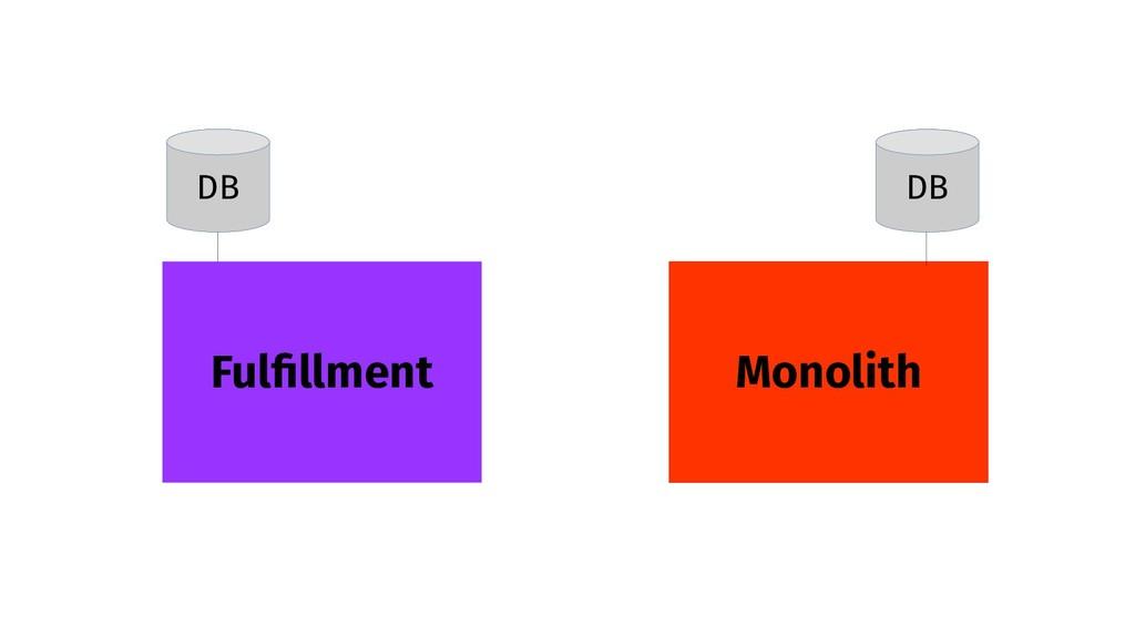 Monolith Fulfillment DB DB