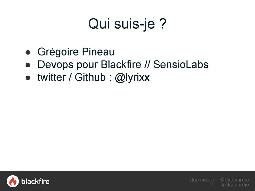 blackfire.io @blackfireio #blackfireio Qui suis...