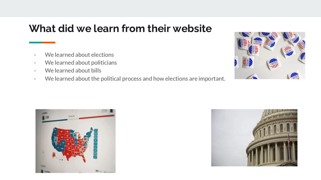 What did we learn from their website - We learn...