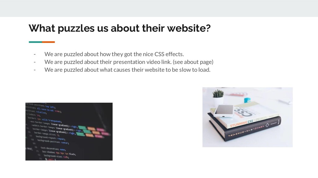 What puzzles us about their website? - We are p...