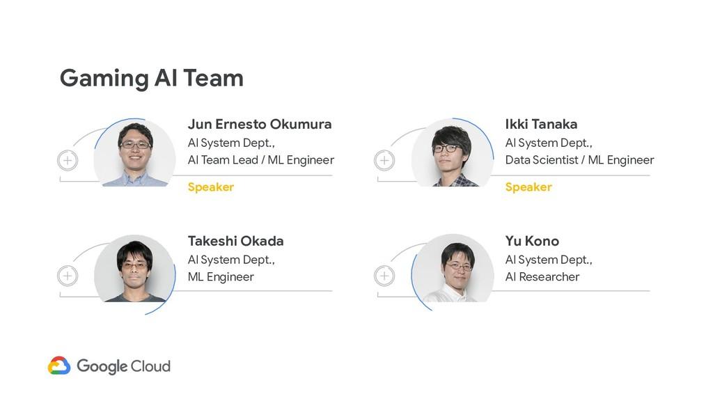Gaming AI Team Jun Ernesto Okumura AI System De...