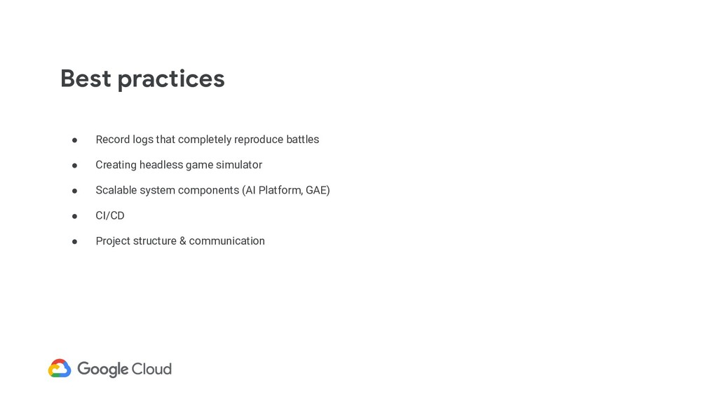 Best practices ● Record logs that completely re...