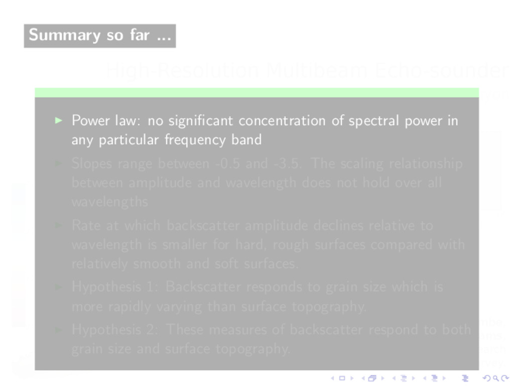 Summary so far ... Power law: no significant con...