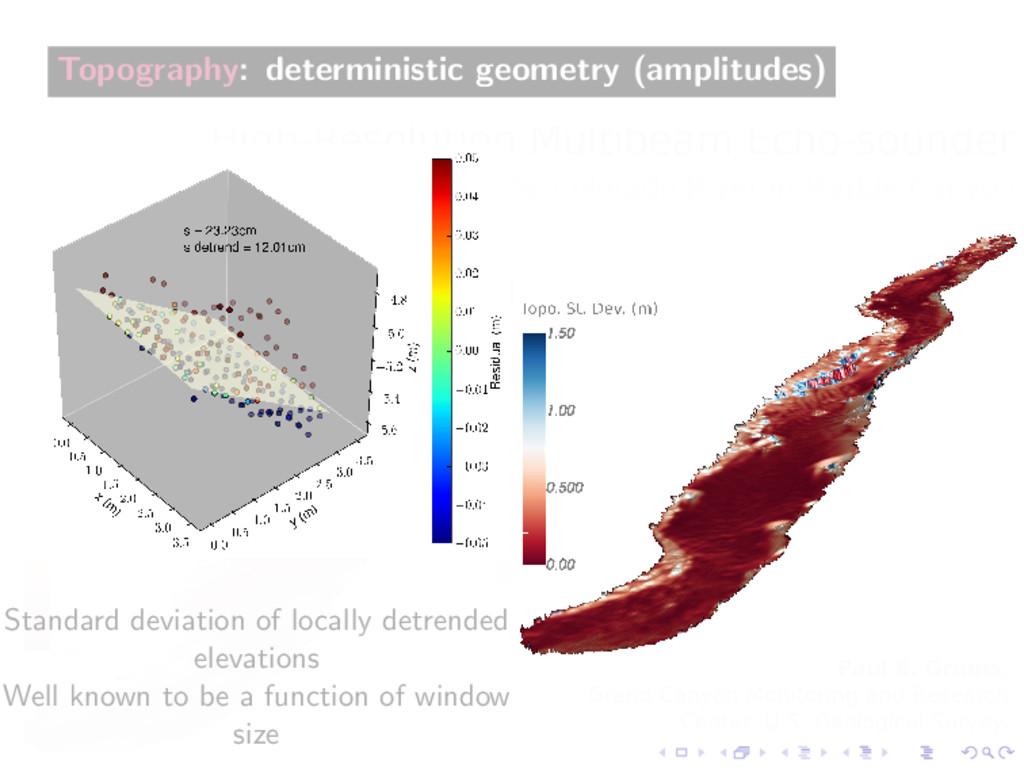 Topography: deterministic geometry (amplitudes)...