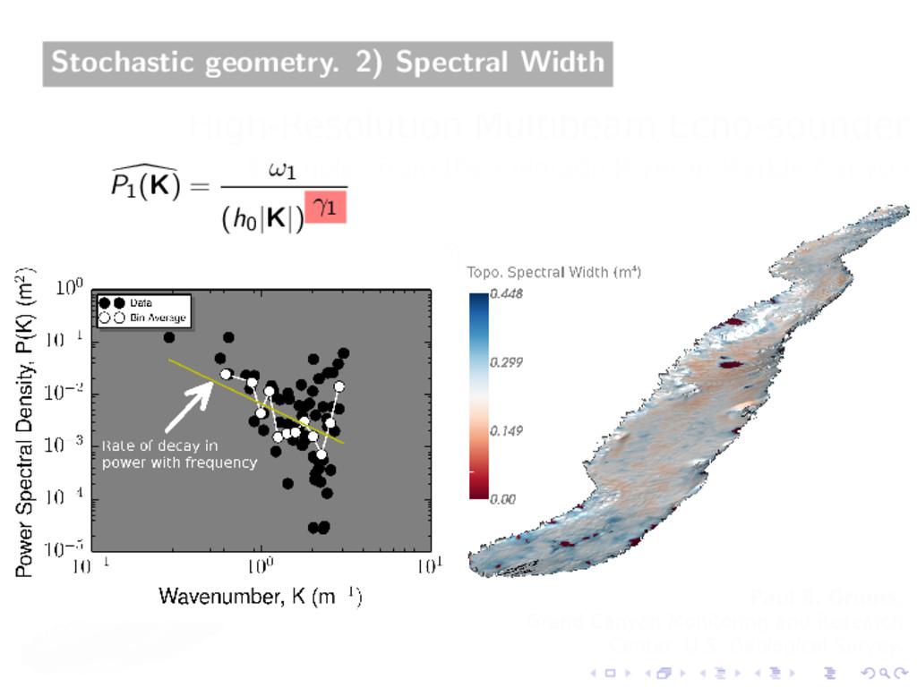 Stochastic geometry. 2) Spectral Width P1(K) = ...