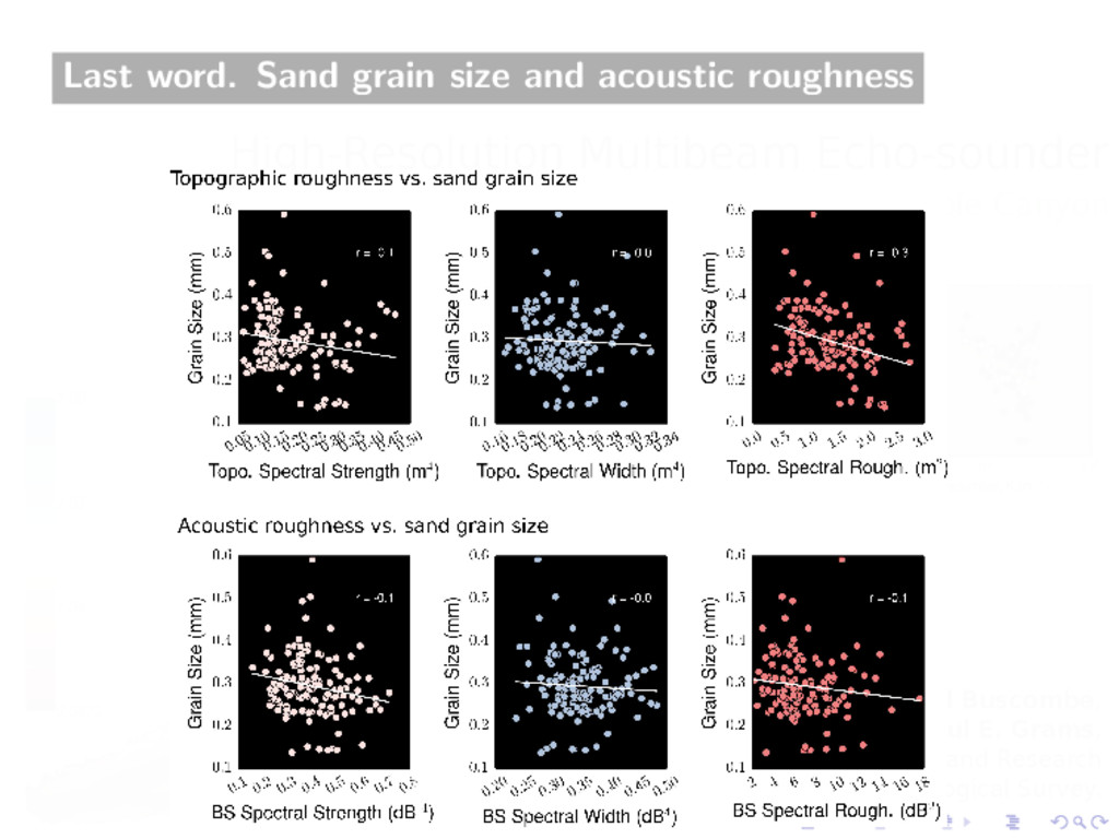 Last word. Sand grain size and acoustic roughne...