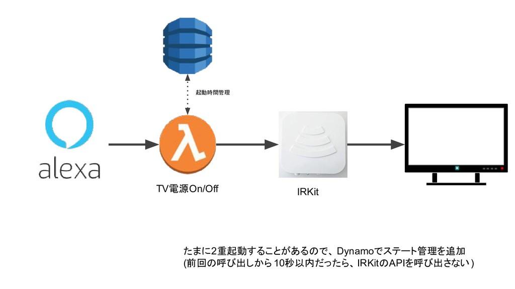 IRKit たまに2重起動することがあるので、 Dynamoでステート管理を追加 (前回の呼び...