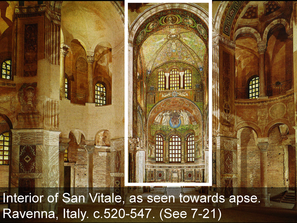 Interior of San Vitale, as seen towards apse. R...