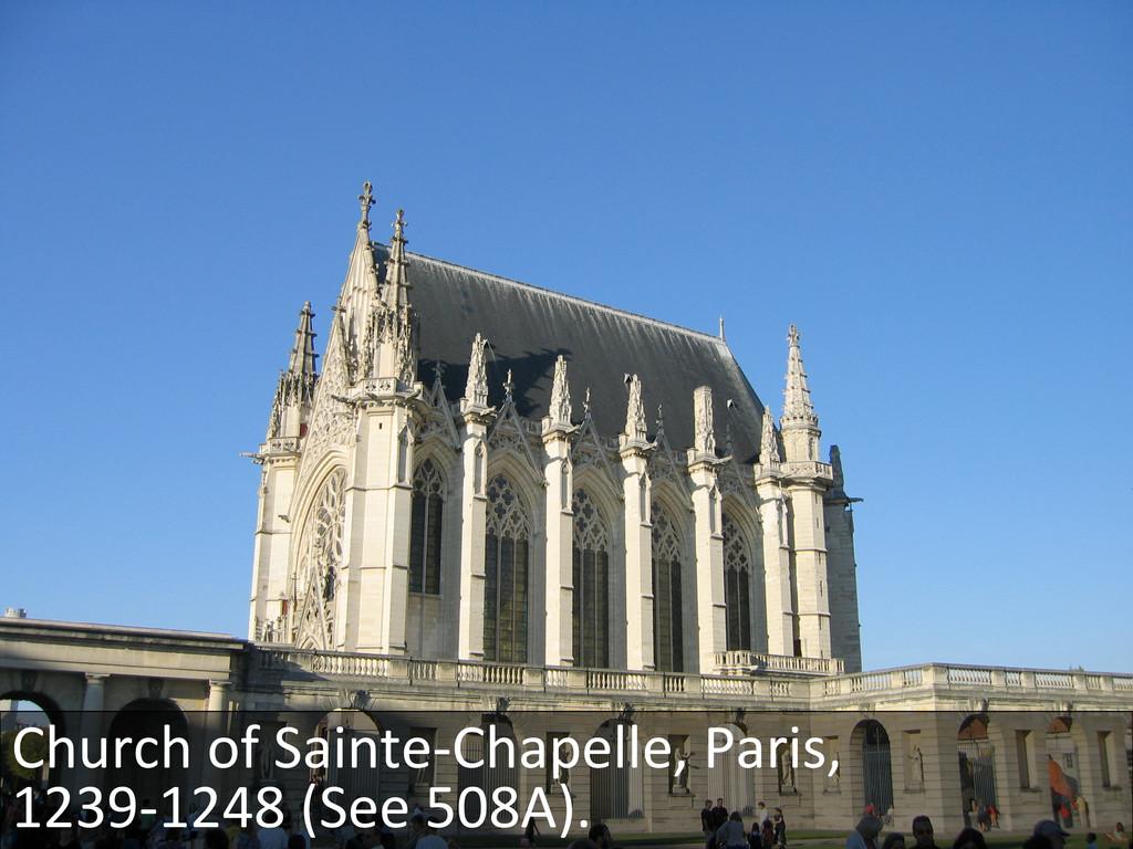 Church of Sainte-‐Chapelle, Paris, ...