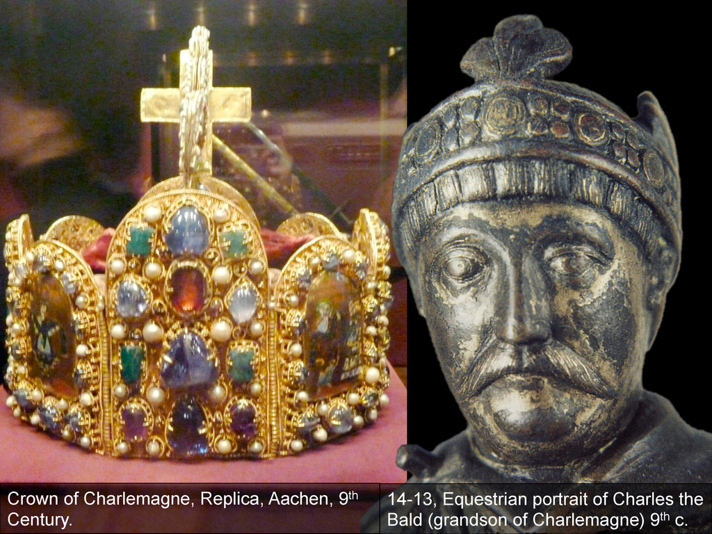Crown of Charlemagne, Replica, Aachen, 9th Cent...