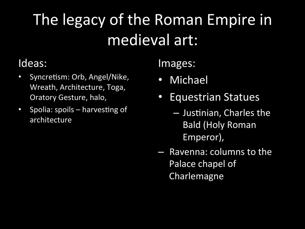 The legacy of the Roman Empire...