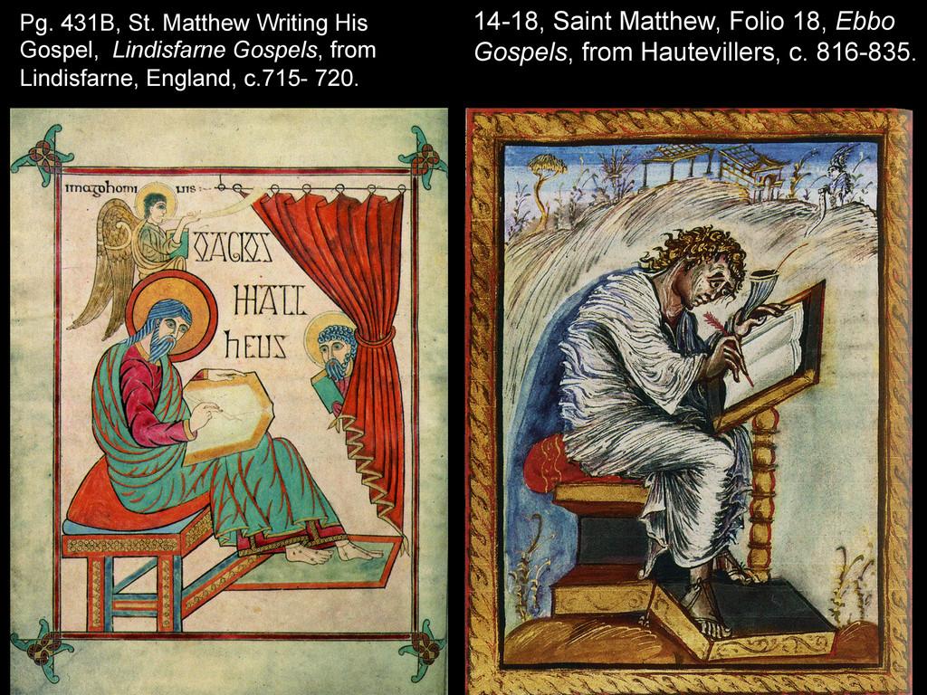 Pg. 431B, St. Matthew Writing His Gospel, Lindi...