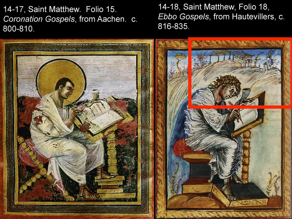 14-17, Saint Matthew. Folio 15. Coronation Gosp...