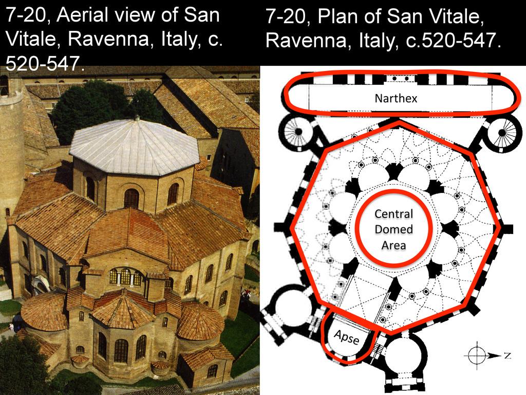 7-20, Aerial view of San Vitale, Ravenna, Italy...