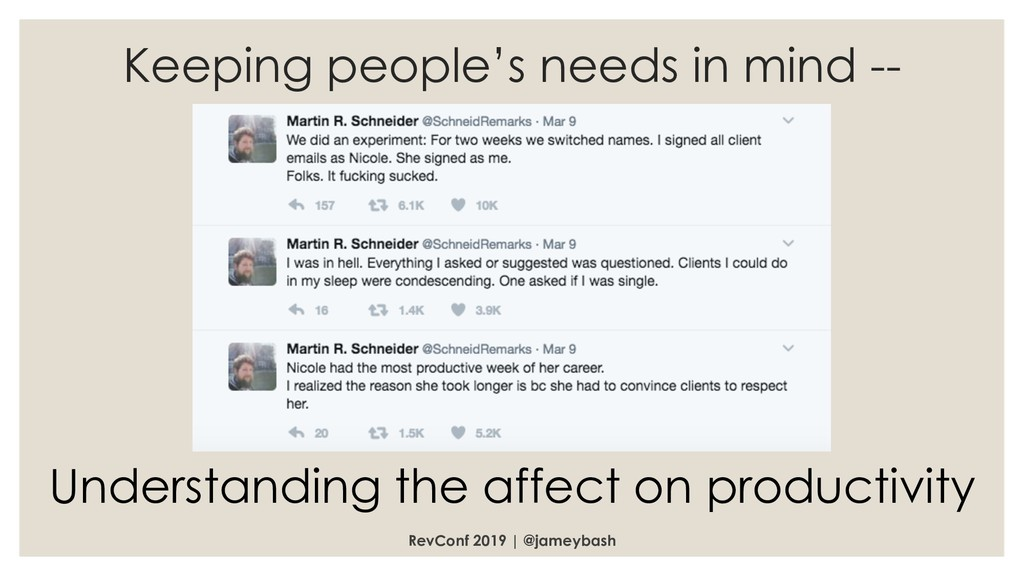 RevConf 2019 | @jameybash Keeping people's need...