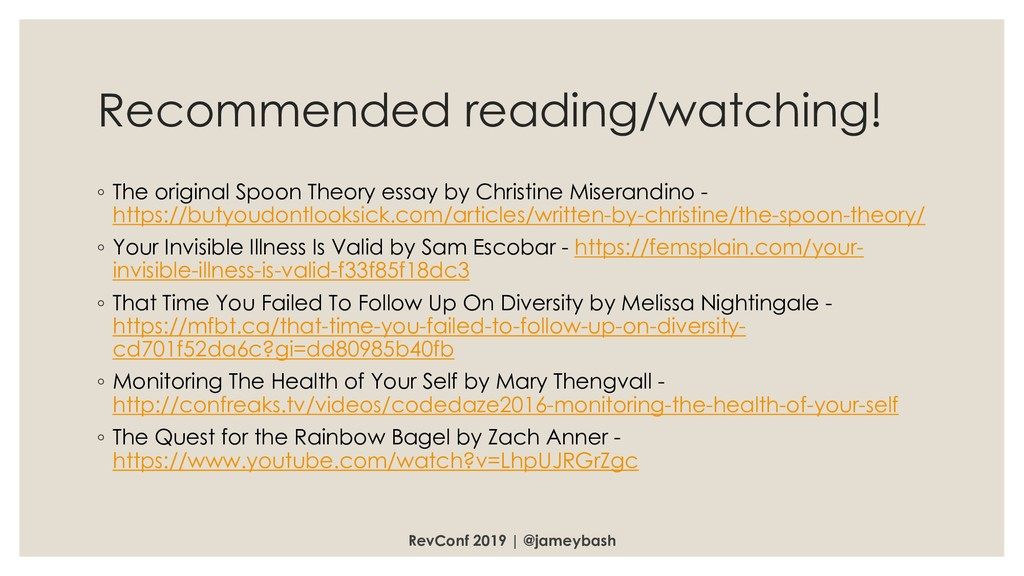 Recommended reading/watching! ◦ The original Sp...