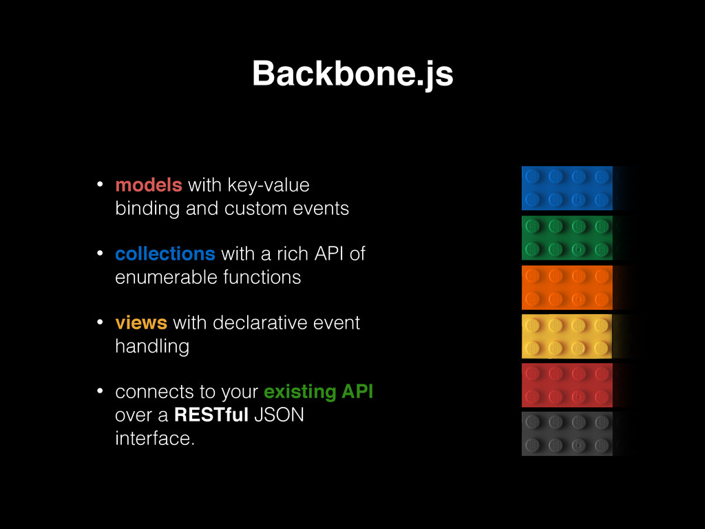 Backbone.js • models with key-value binding and...
