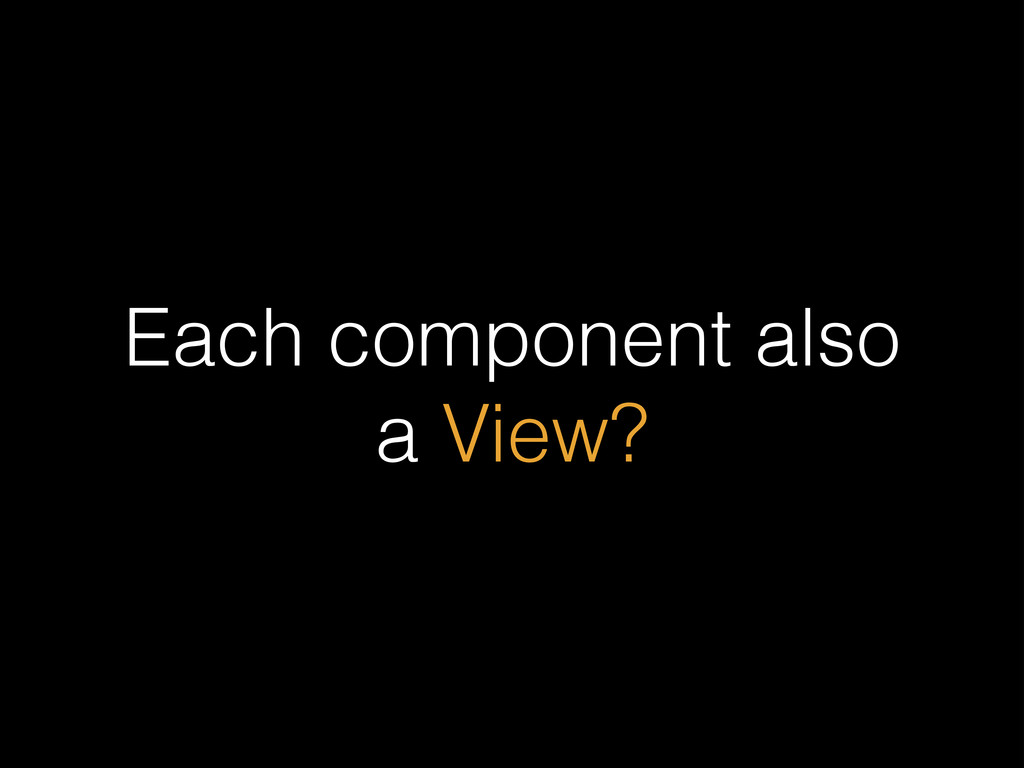 Each component also a View?