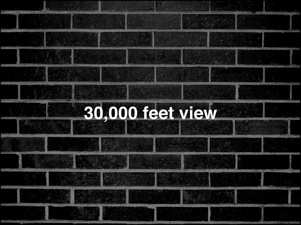 30,000 feet view