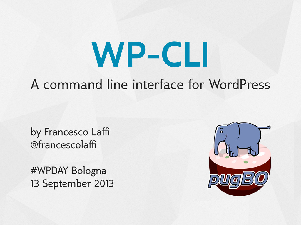WP-CLI A command line interface for WordPress b...