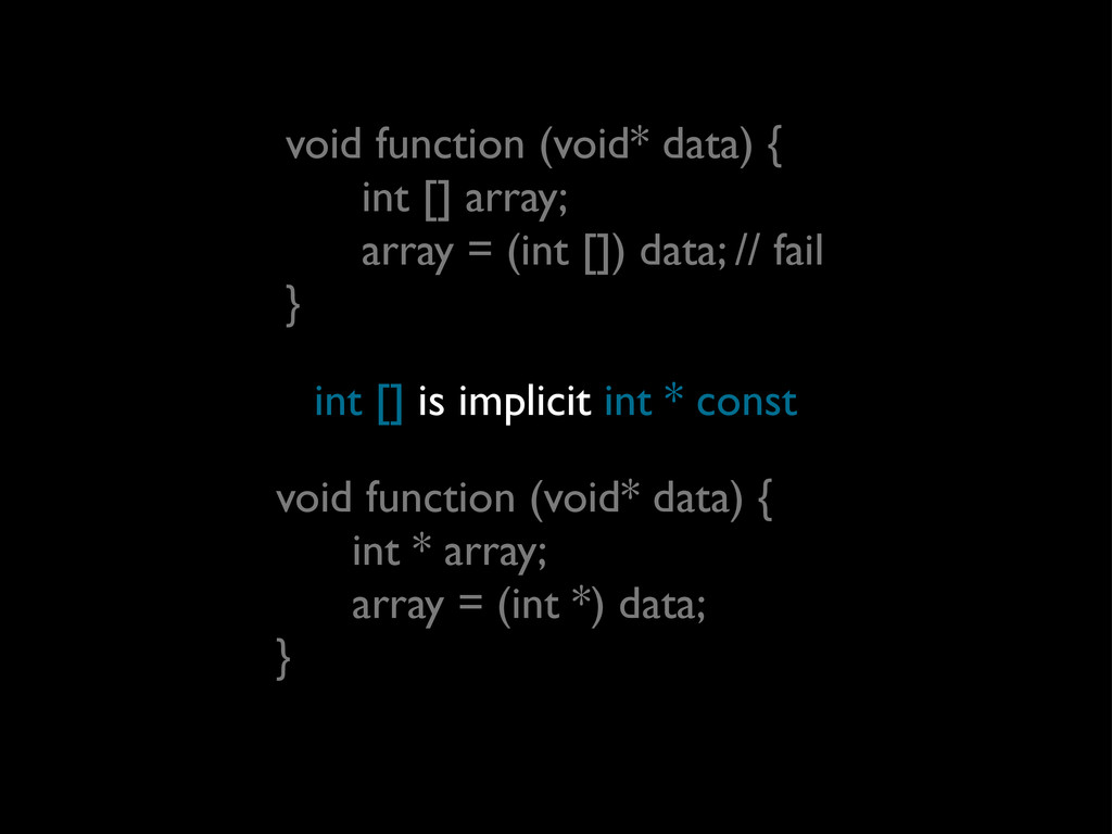 void function (void* data) { int [] array; arra...