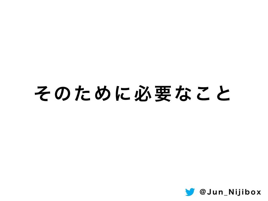 ͦͷͨΊʹඞཁͳ͜ͱ ! + V O @ / J K J C P Y