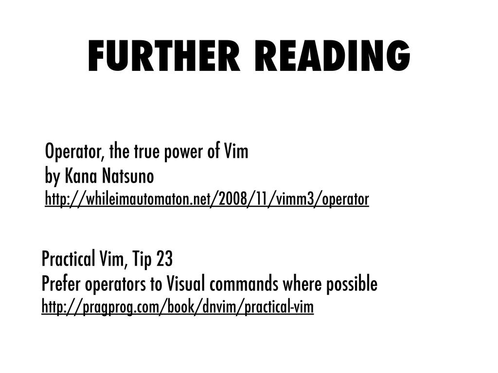 Operator, the true power of Vim by Kana Natsuno...