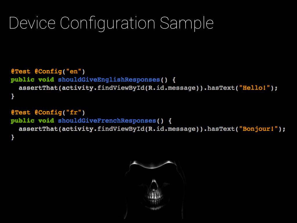 Device Configuration Sample