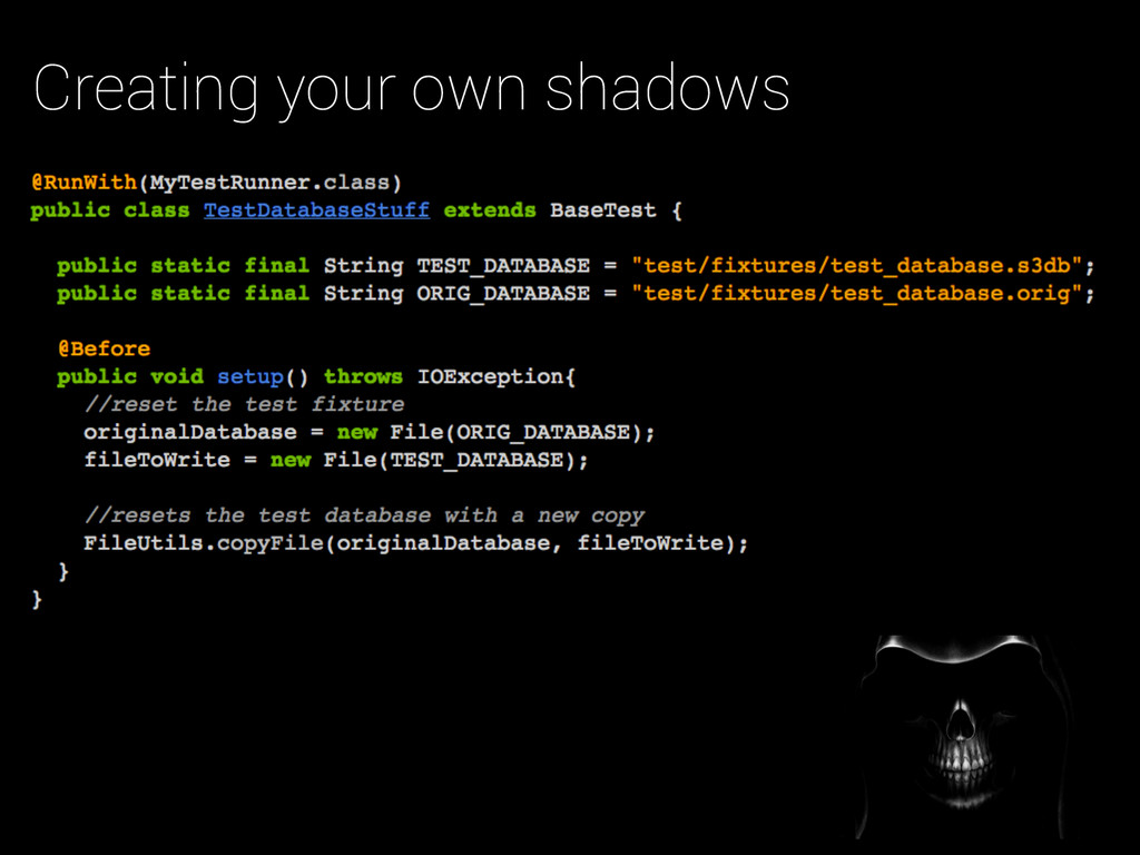 Creating your own shadows
