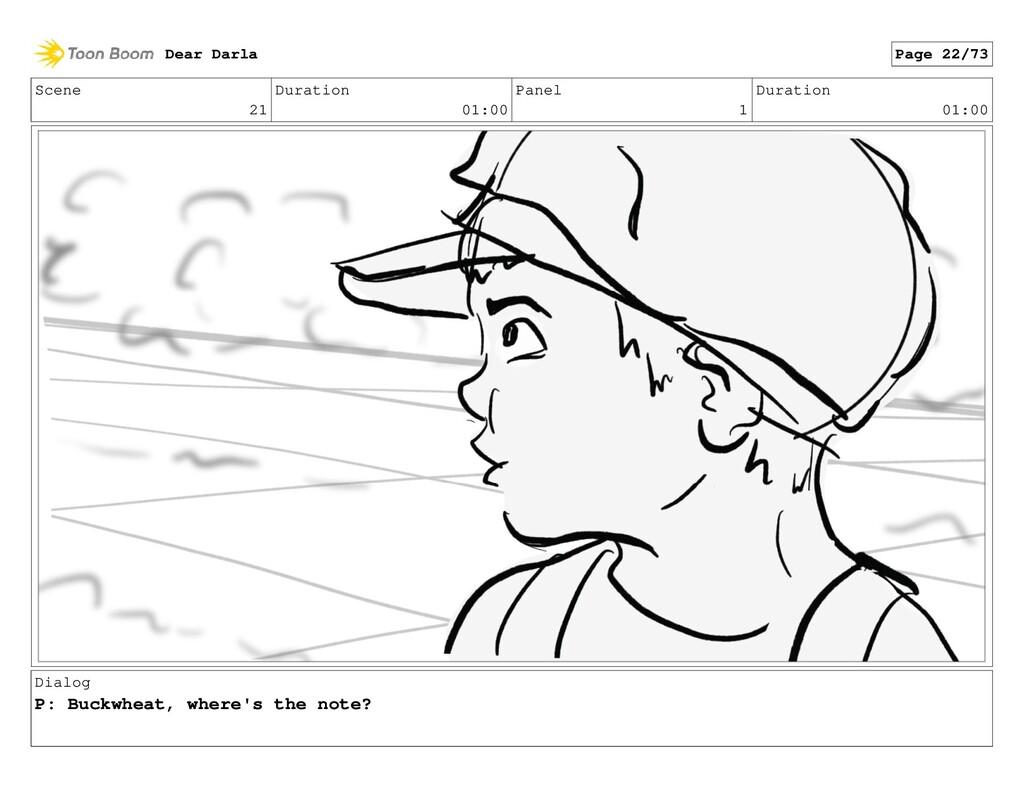 Scene 21 Duration 01:00 Panel 1 Duration 01:00 ...