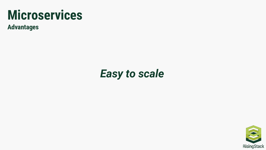 Microservices Advantages Easy to scale
