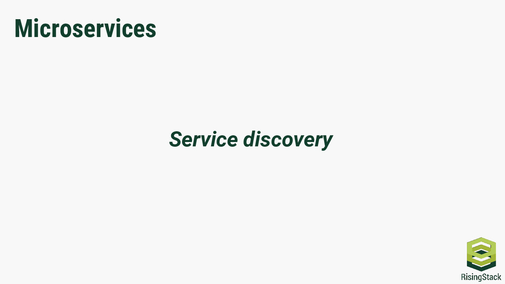Service discovery Microservices