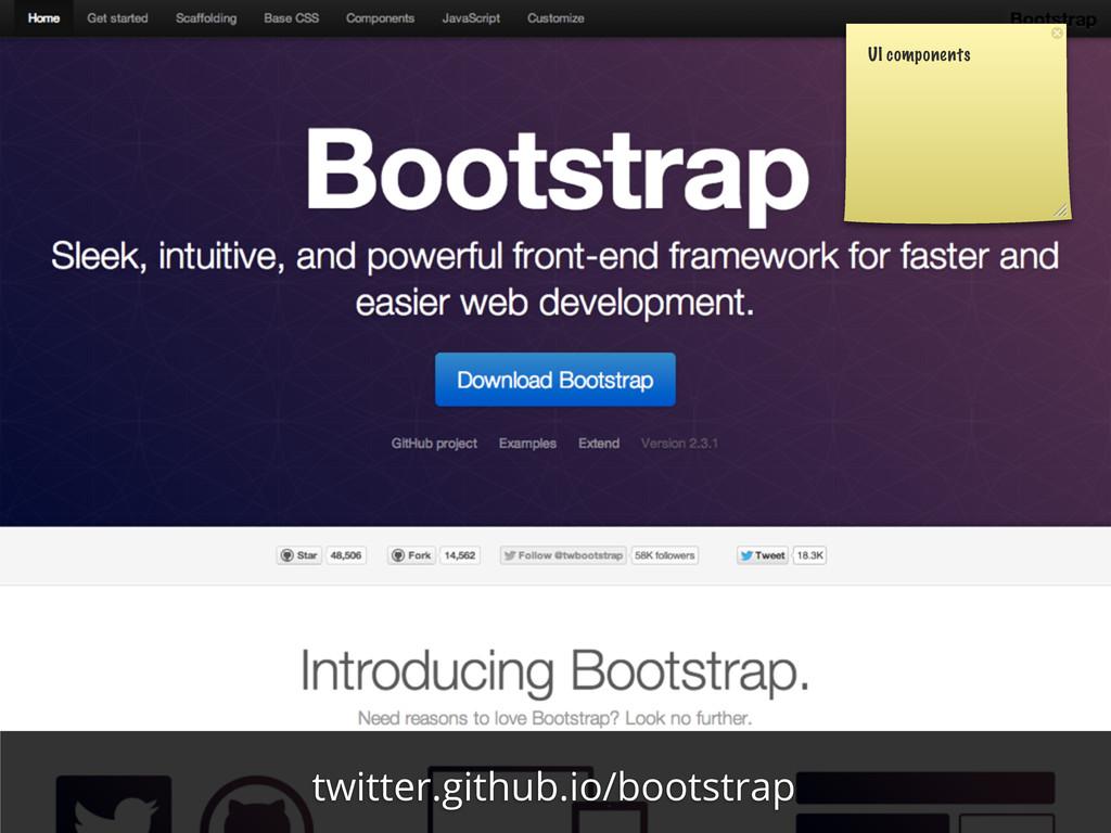 UI components twitter.github.io/bootstrap