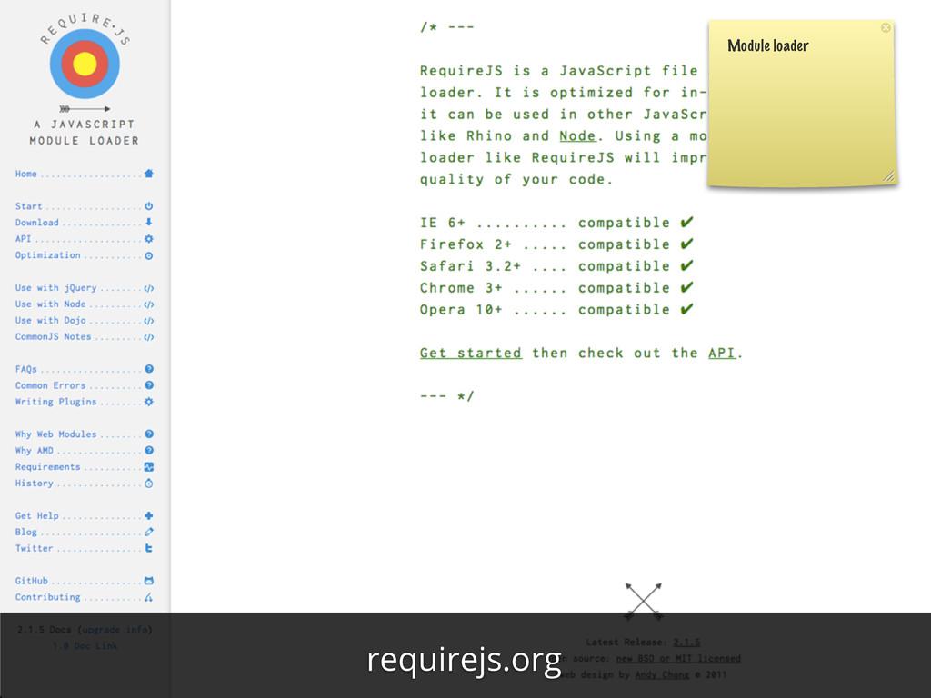 Module loader requirejs.org