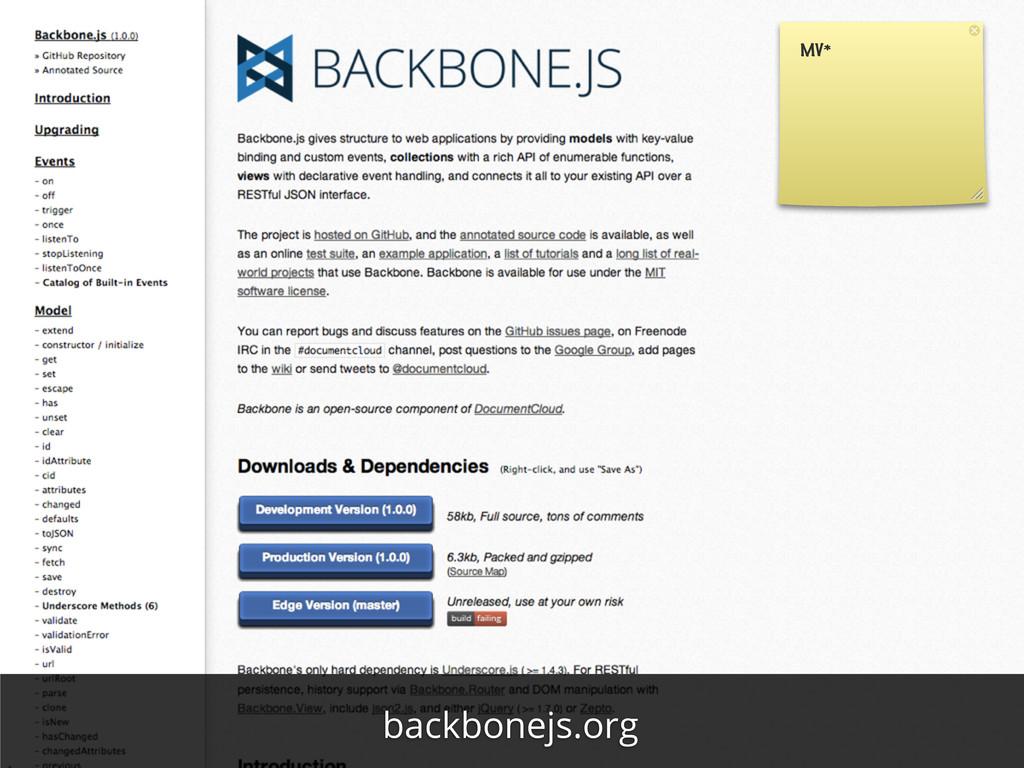 MV* backbonejs.org