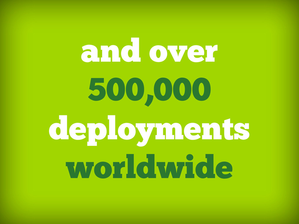 and over 500,000 deployments worldwide
